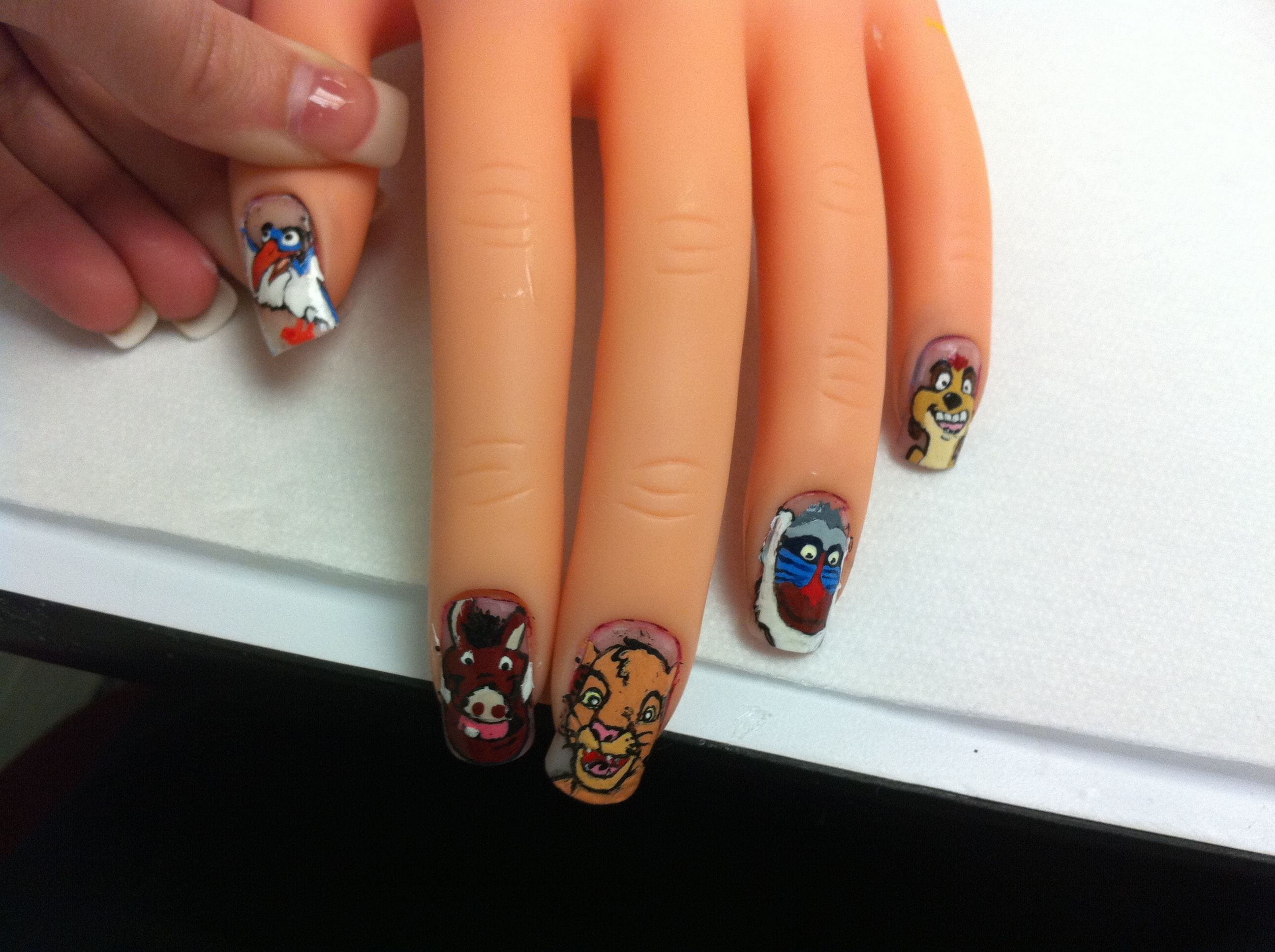 Lion King nail art- i would be amazing if i could do this. | Nail ...