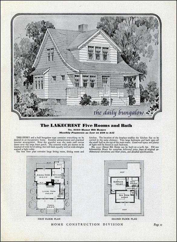 Homes Of Today Sears Kit Houses 1932 Kit Homes House Plans Vintage House Plans