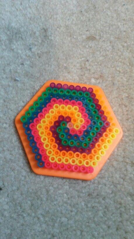 Cool Thing To Do W Ur Neon Perler Beads Perler Beads Melty Beads Beads