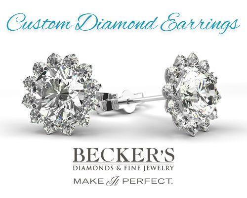 Custom Diamond Earrings Available At Becker S Jewelry Earrings Diamond Earrings