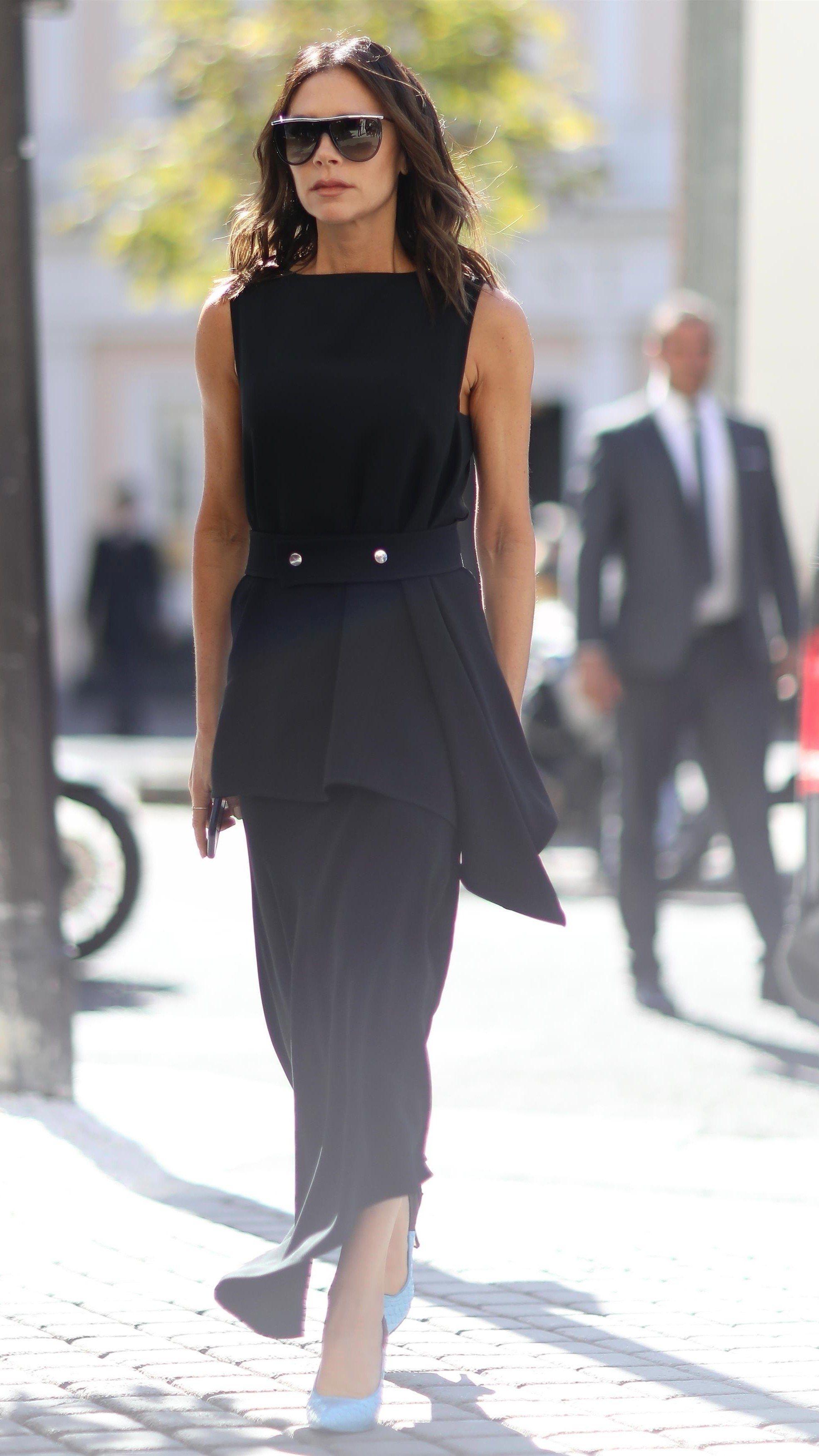 Victoria Beckham Little Black Dress Little Black Dress Black Dress Fashion [ 1399 x 585 Pixel ]