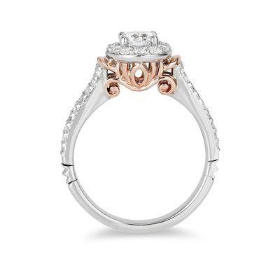Enchanted Disney Cinderella 1 CT. T.W. Diamond Frame Collar Engagement Ring  In 14K Two