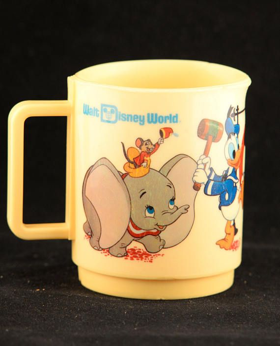 Dumbo Cup Character Kids Mug Minnie Plastic Cup Minnie Kids Etsy Kids Cups Toddler Cup Collectable Cups