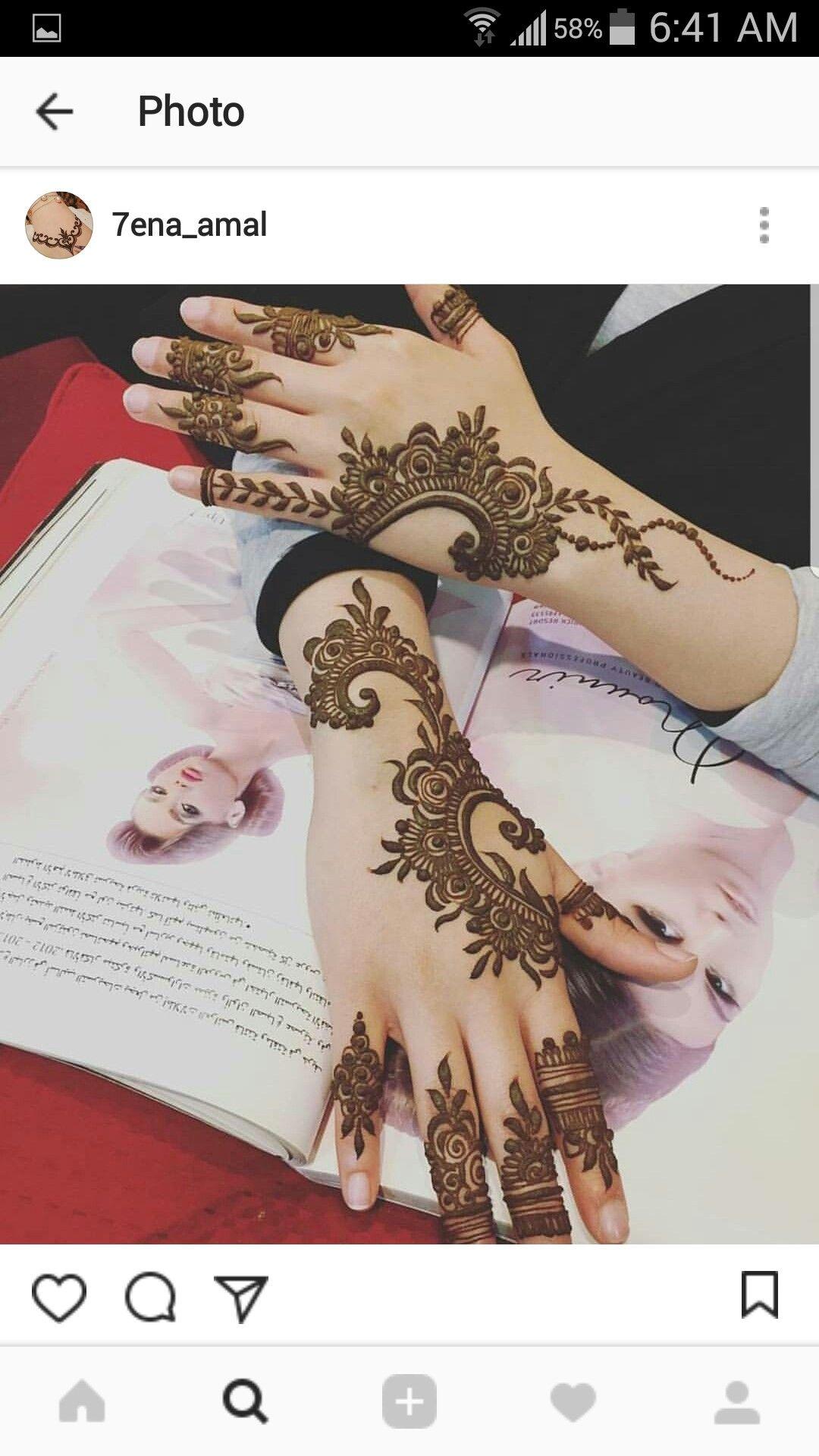 Pin By Azzah Saif On Beaute Finger Henna Designs Henna Designs Hand Mehndi Designs