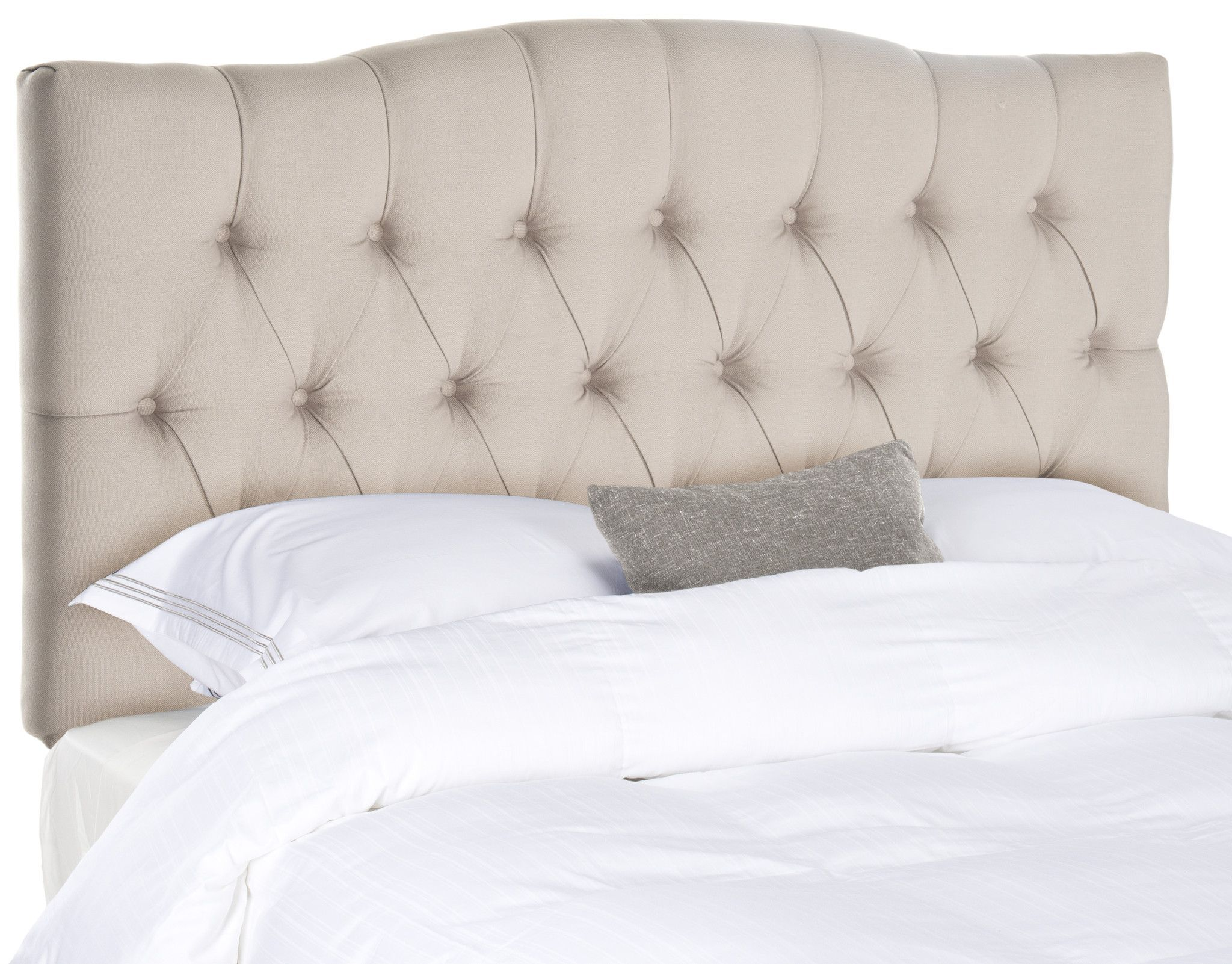 Taupe Tufted Headboard King