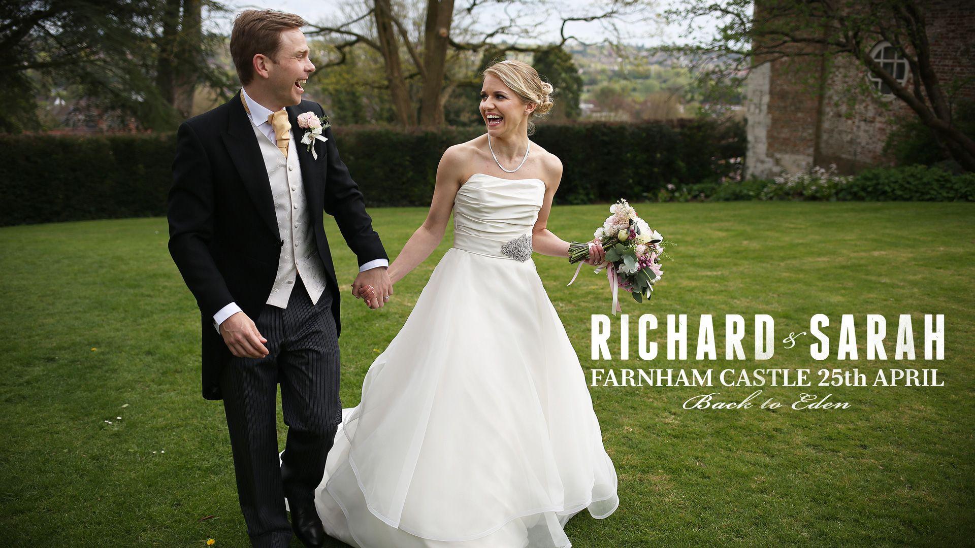 Richard and sarah april farnham castle wedding videos