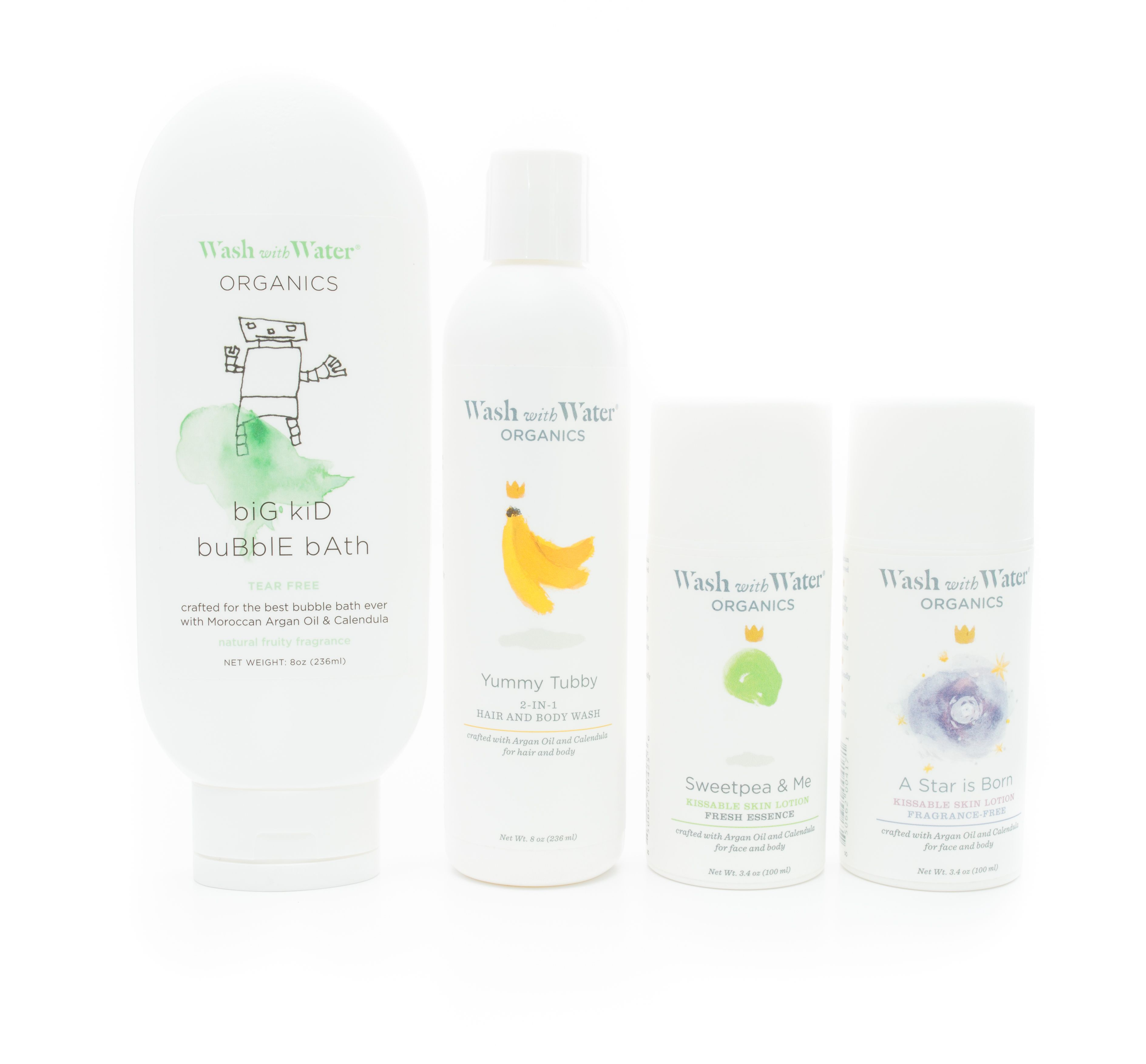 Luxe bubble bath set baby skin care natural baby baby soap