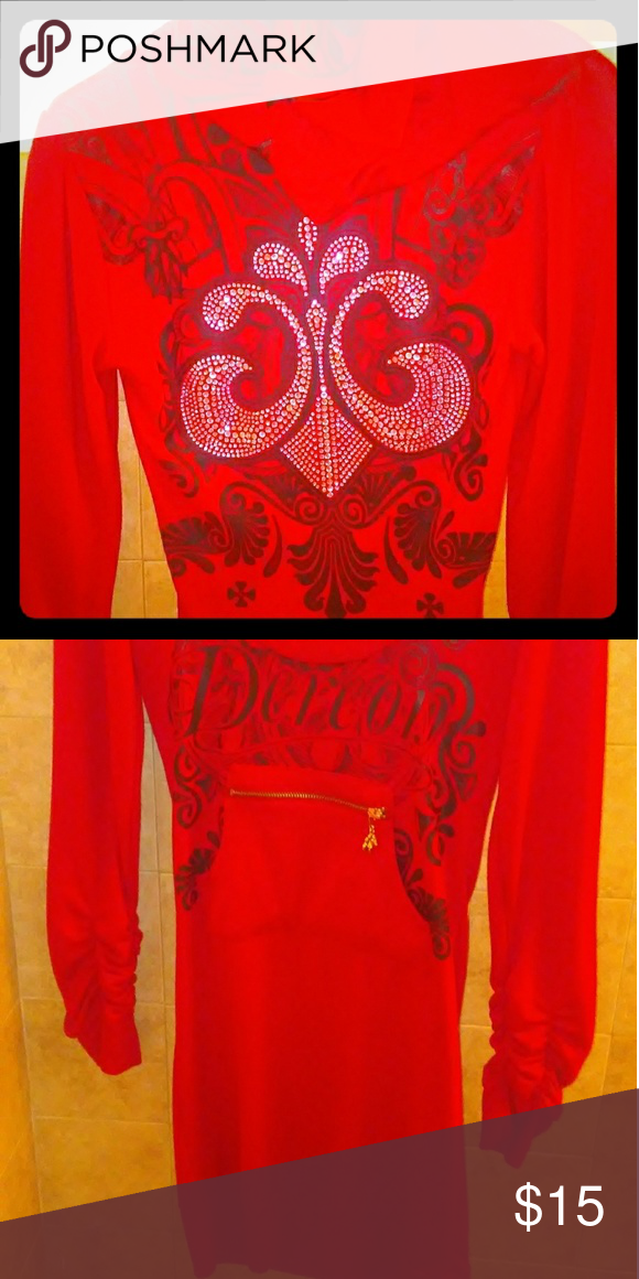House Of Dereon By Beyonce Soft Fabrics Scoop Neck And Red Black