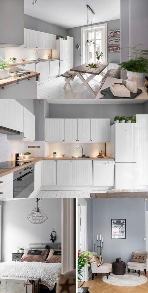 Un apartamento que te enamorará /   livingmallorcadeco - Cocinas Integrales Blancas