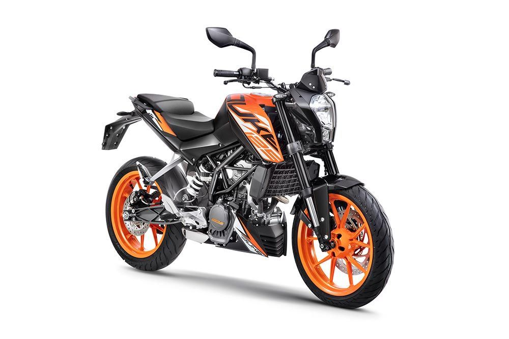 Ktm Duke 125 Colors Orange White And Black Ktm 125 Duke Ktm