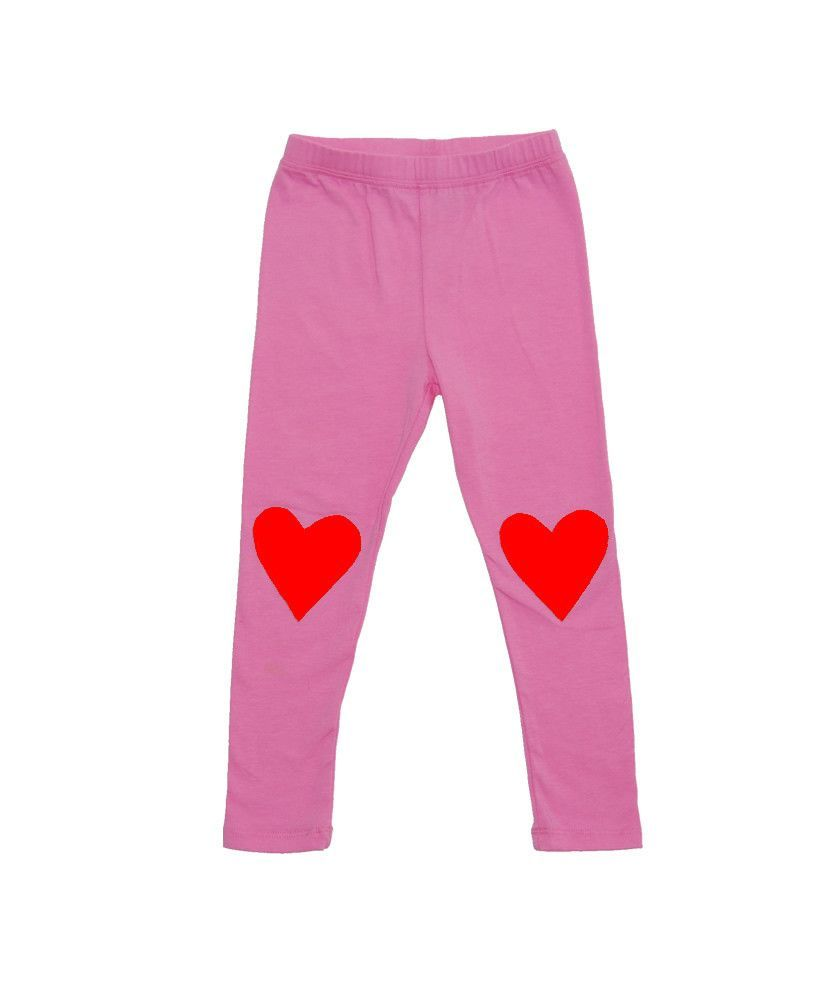 LIMITED EDITION Valentine's Day Heart Patch Leggings - Fuchsia