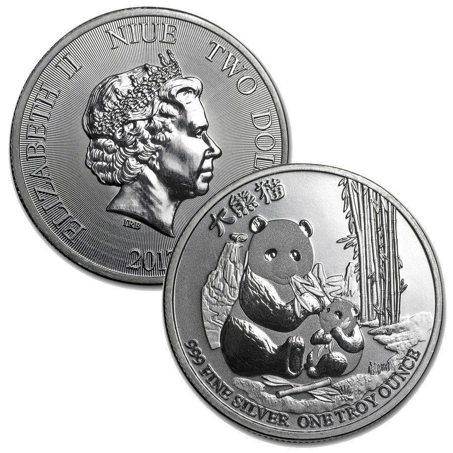 Niue 1 Oz Silver 2 Panda Coin In 2020 Coins Silver Bullion Silver Coins