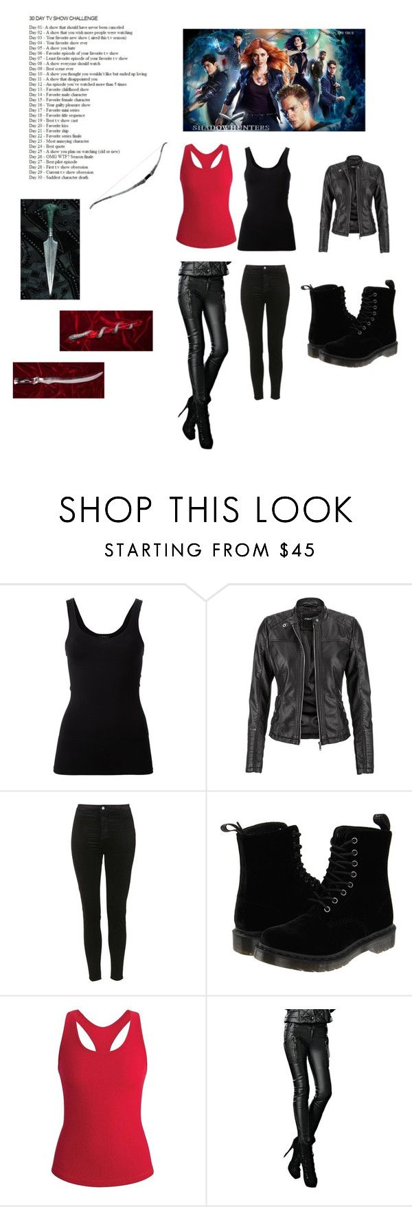 """Tv show challenge day 3"" by fangirl05 ❤ liked on Polyvore featuring Theory, maurices, Topshop, Dr. Martens and Black Diamond"