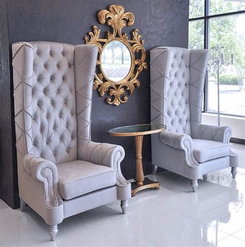 Tips To Modernize High Back Chair In 2020 High Back Chairs Furniture Ornate Chairs