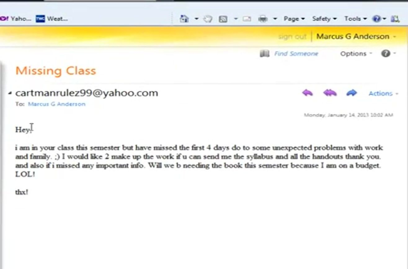 How To Not Email Your College Professor
