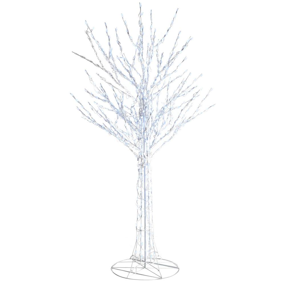 Home Accents Holiday 8 Ft Led Pre Lit Bare Branch Tree With White Lights 4407463w 18uho1 The Home Depot Lights White Led Lights White Light