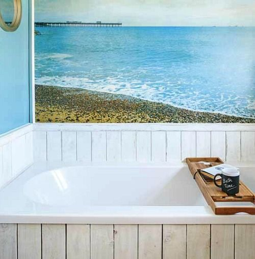 Turn Your Bathroom Into A Seaside Escape! Coastal And Beach Theme Bathroom  Ideas: Http