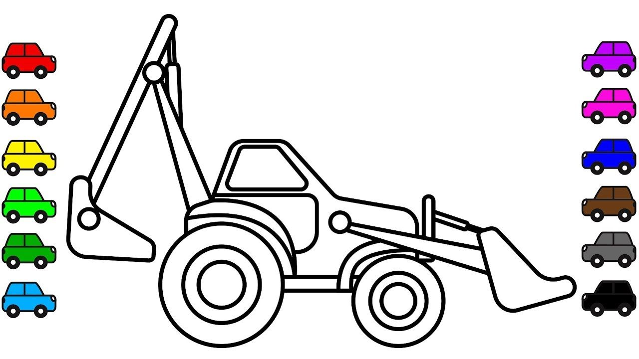 Excavator Truck Colouring Pages Construction Vehicles Book Vi