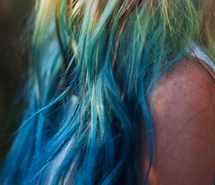 Inspiring picture blue, colorful, fashion, hair, tips, green, hipster, perf, tumblr.