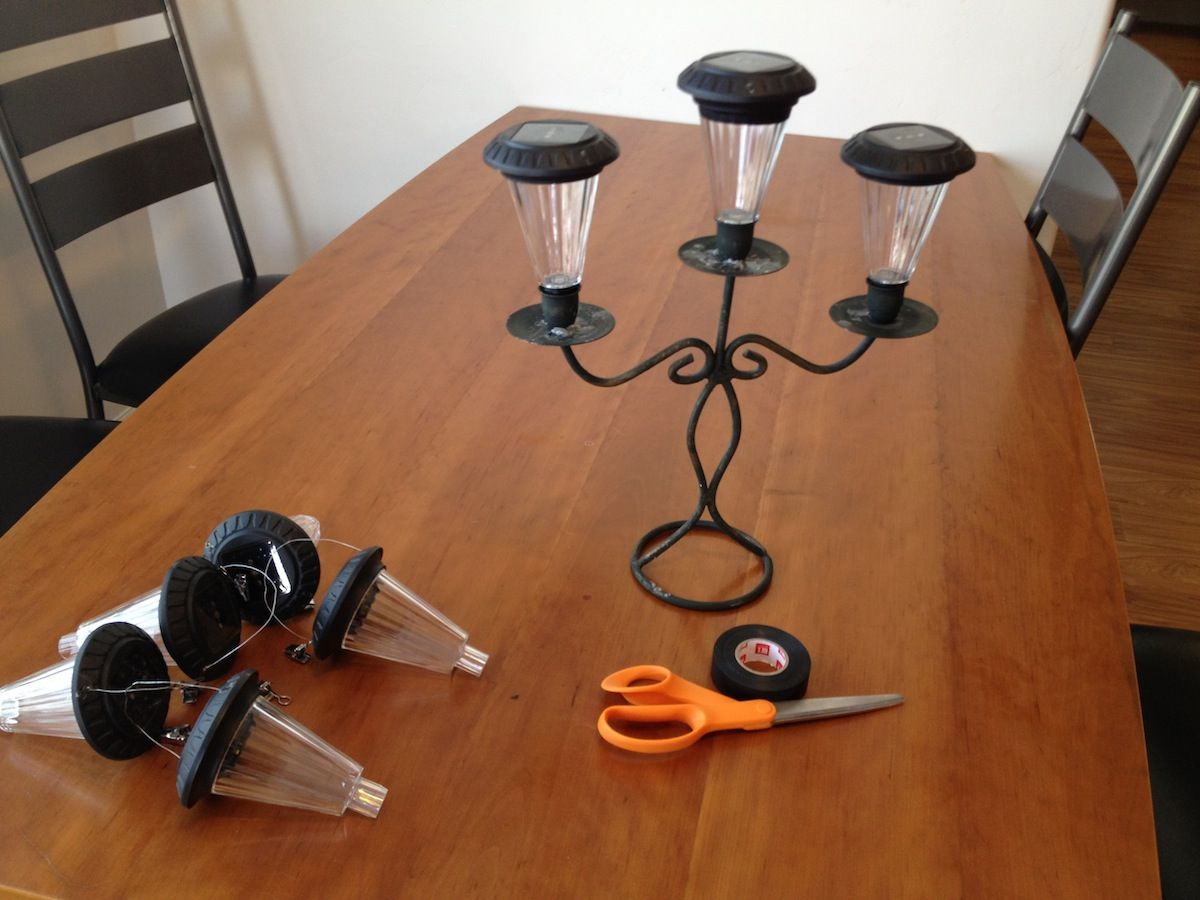 solar light candelabra from the gadgets page crafts pinterest