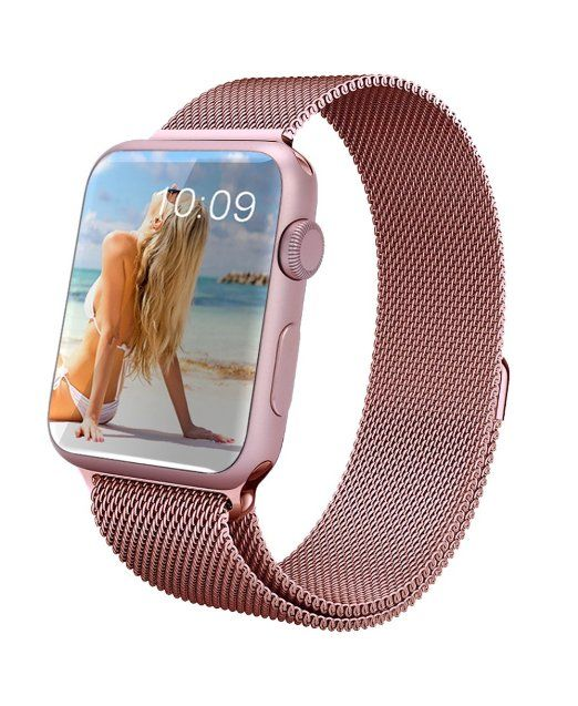 Geotel Apple Watch Band 42mm Milanese Loop Stainless Steel Bracelet Strap Band For Apple Watch 38mm Apple Watch Band Apple Watch Accessories Apple Watch Bands