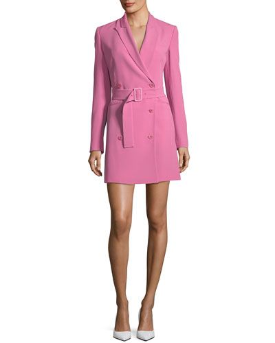 b0a81b2b5a TWDL7 Theory Double-Breasted Belted Admiral Crepe Blazer Dress ...