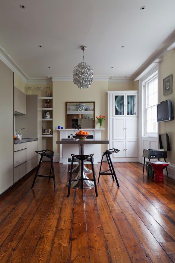 Holzdielen für rustikalen Look in der Küche   Holzdielen, Rustikal ...