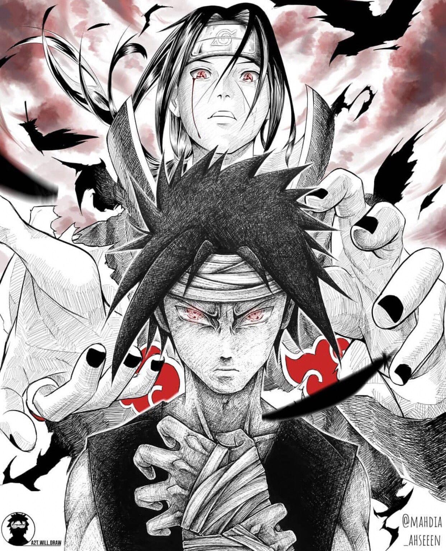 Sasuke And Itachi Naruto Drawings Naruto Art Itachi
