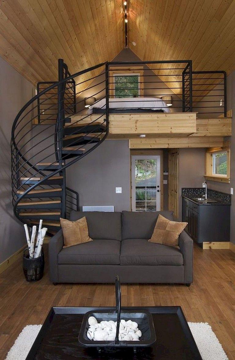 50 Awesome Loft Stair Design And Storage Organization Ideas Chambre Mezzanine Interieurs De Toute Petite Maison Idees Loft
