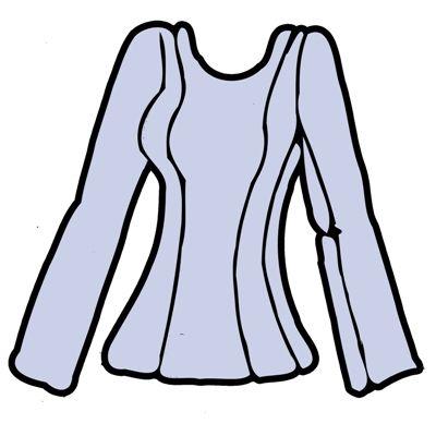 Women's blouse, princess line to shoulder http://strihy-na-obleceni.blogspot.cz/