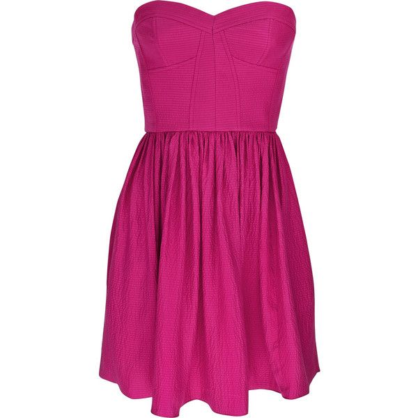Perfect Party silk mini dress Rebecca Taylor ($175) ❤ liked on Polyvore featuring dresses, vestidos, vestiti, pink, women, short purple dresses, party dresses, cocktail party dress, zipper corset and short dresses