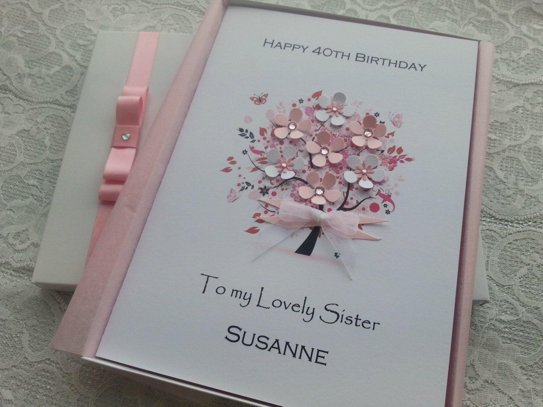 Birthday Card Handmade Personalised 3D 16th 18th 20th 30th