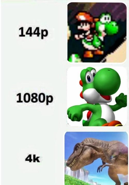 Graphics of Yoshi via reddit | Wow | Yoshi, Video game memes