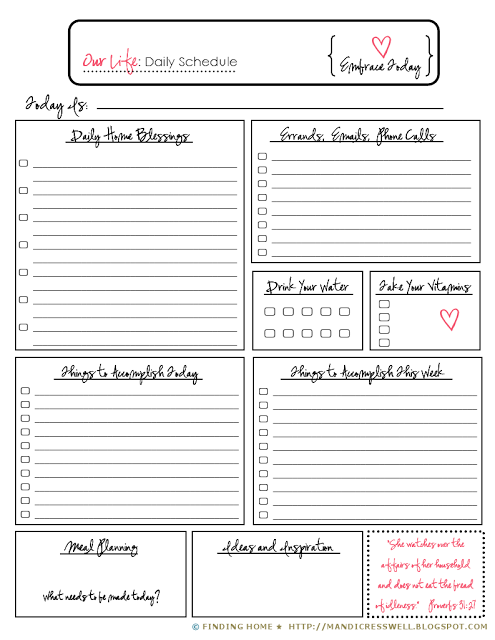 The Plan A Colorful Free Daily Planner Printable ToDo List A