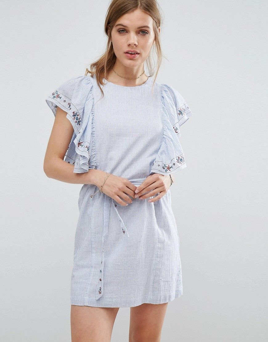 Striped Smock Dress - Bleu Suncoo Hrt4y