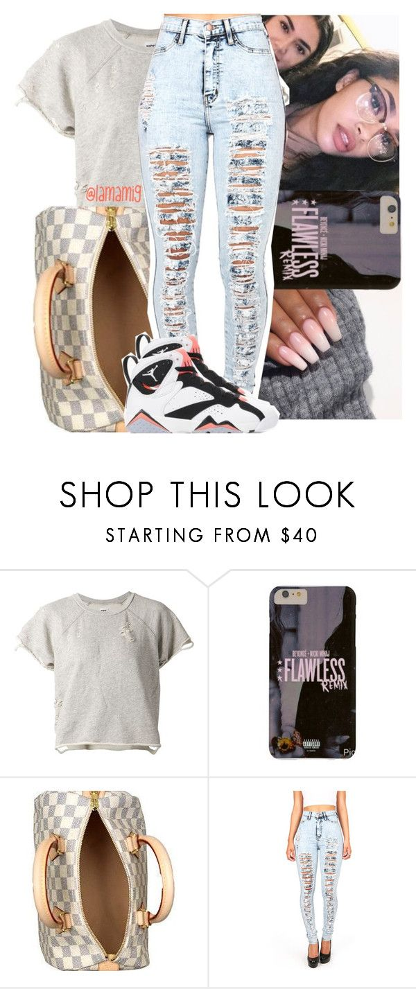 """tired now."" by lamamig ❤ liked on Polyvore featuring NSF, Louis Vuitton, Retrò, women's clothing, women's fashion, women, female, woman, misses and juniors"