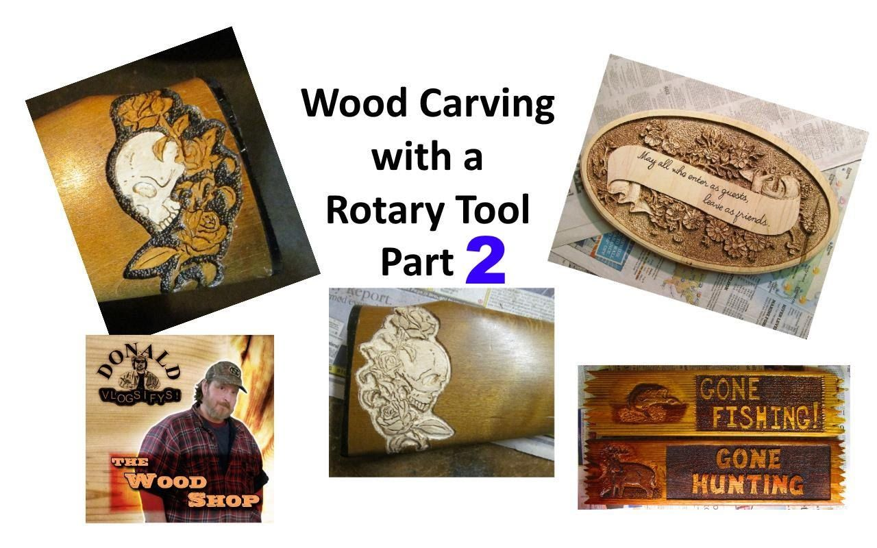 Rotary Tool Wood Carving Part 2 - #woodworking #carving