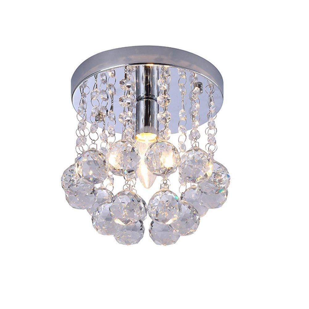 Crystal chandelier mini style flush mount ceiling light crystal crystal chandelier mini style flush mount ceiling light arubaitofo Choice Image