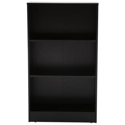 Hampton Bay Black 3 Shelf Bookcase Thd90003 2a Of Black Bookcase
