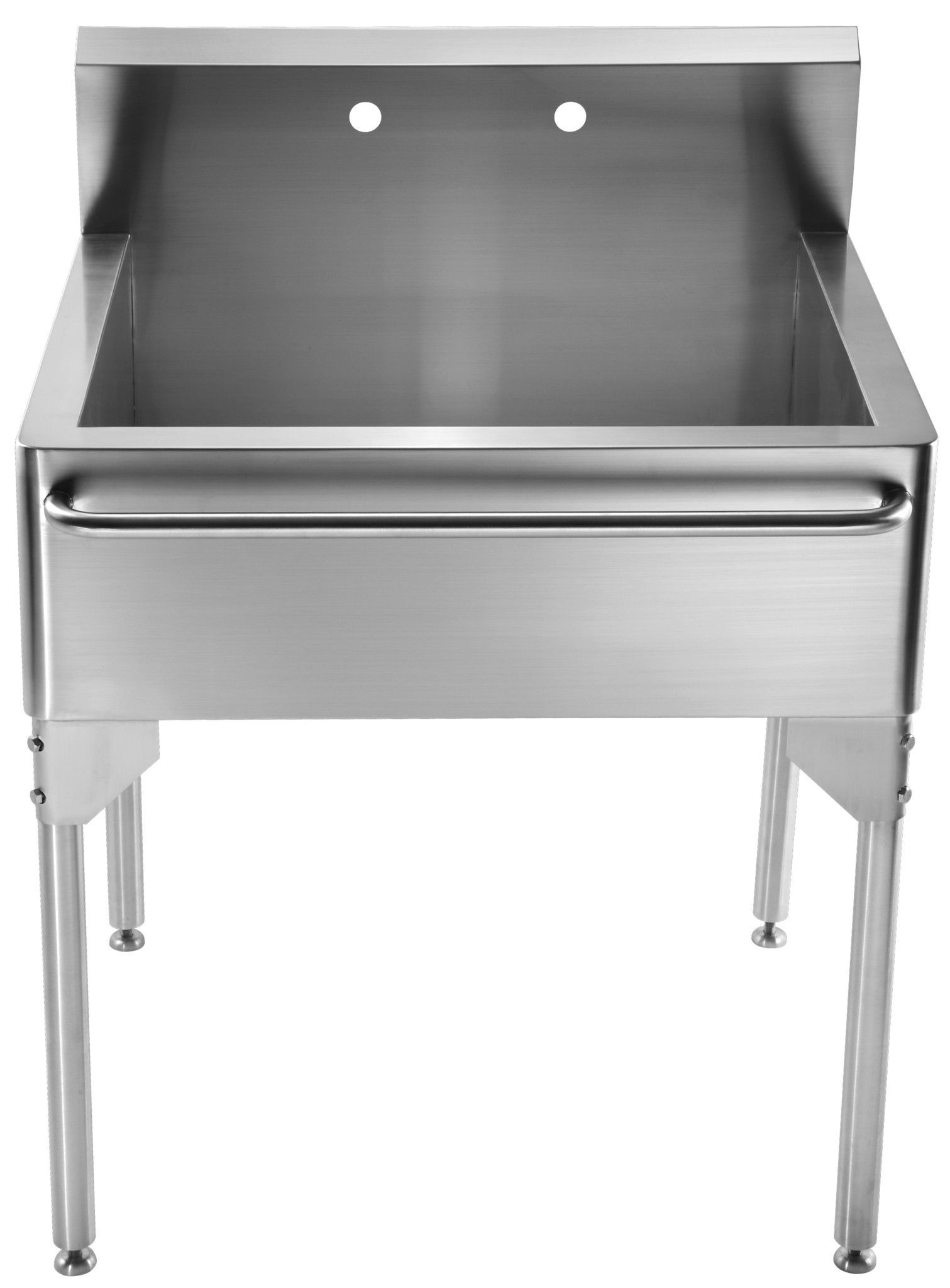 Pearlhaus Double Bowl Commerical Freestanding Utility Sink