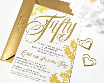 Image Result For Elegant 50th Wedding Anniversary Invitations