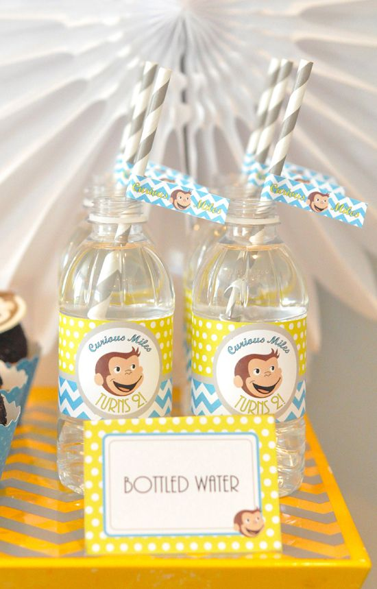 Curious George Boy Birthday Party Ideas — loving these party printables!