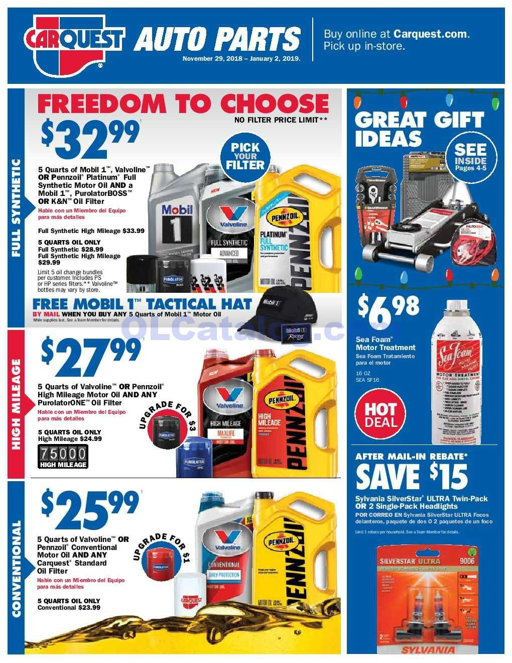 Carquest Auto Parts Near Me >> Carquest Auto Parts Flyer November 29 2018 January 2