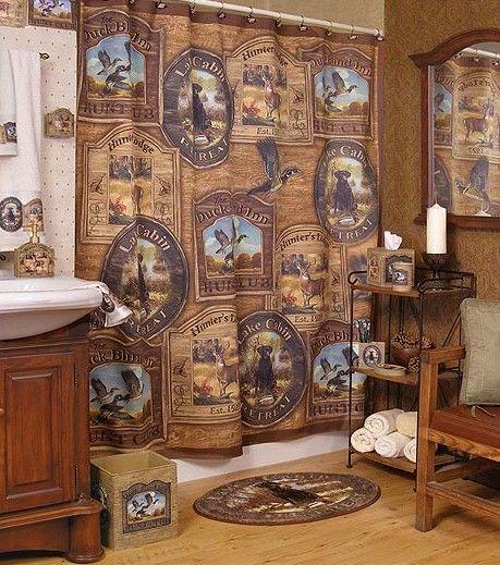 Hunt Club Lodge Bathroom Shower Accessories Hunting Bathroom Decor Cabin Bathroom Decor Hunting Bathroom