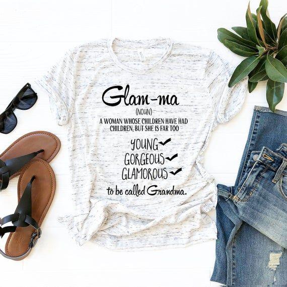 Glam-ma Shirt - Glam ma Shirt - Gift for Grandma - Glamma Shirt - Grandma Shirt - New Grandma Gift #newgrandma