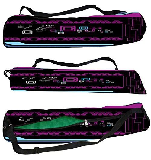 7546efb709ac Snoogg Octal Designs Canvas Yoga Bag Peace Beautifully Crafted for Extra  Wide Yoga Mat and Gym