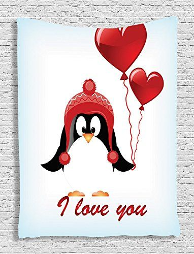 valentines collection happy birthday balloons penguin quotes i love you painting kids girls boys red black
