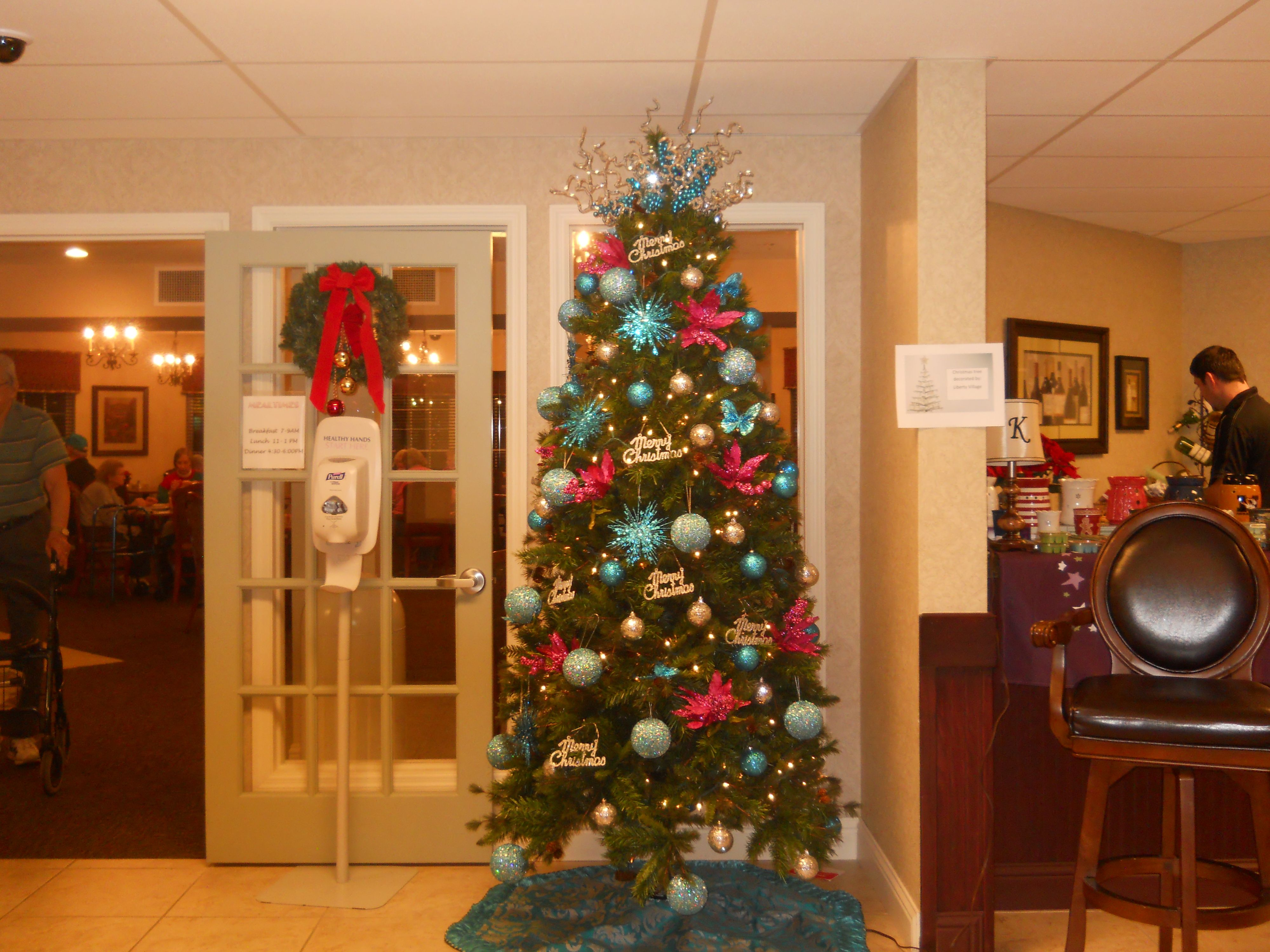 Just One Of Our Beautiful Christmas Trees At Knollwood Retirementmunity  In Caseyville, Illinois