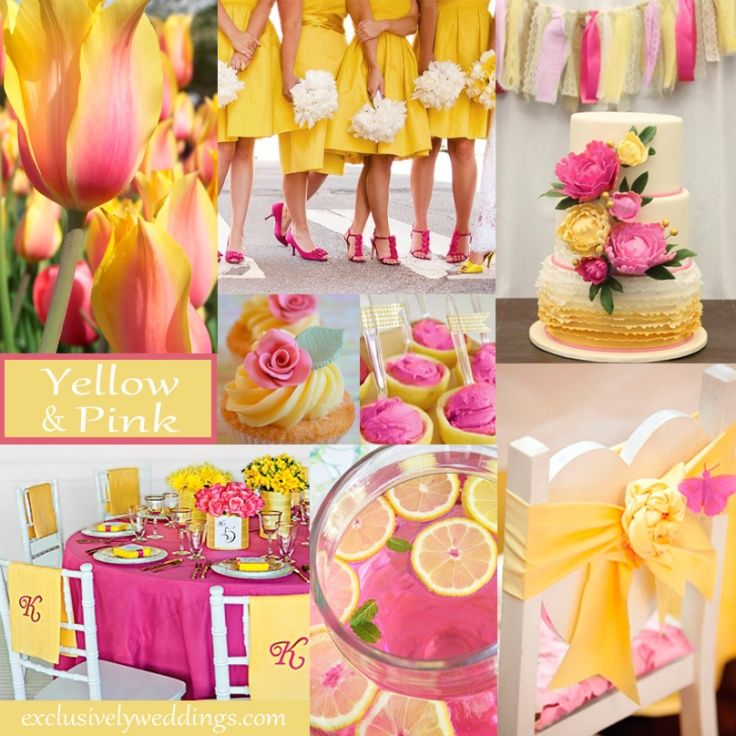 Yellow Wedding Color - Combination Options | Yellow wedding colors ...