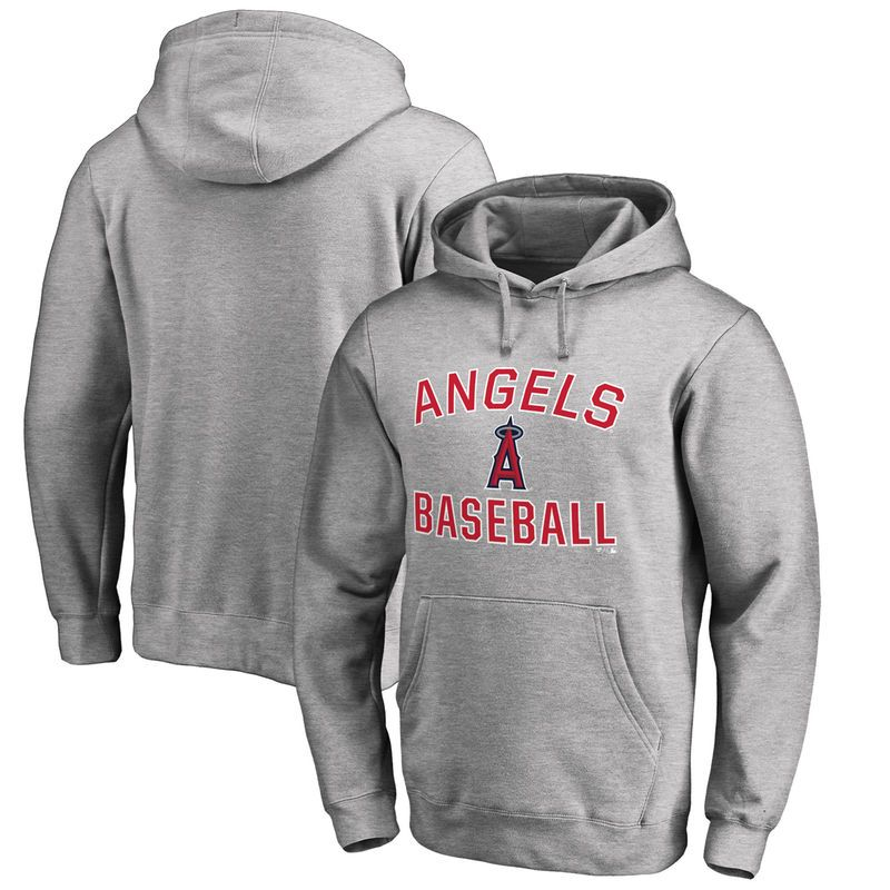 Los Angeles Angels of Anaheim Big & Tall Victory Arch Pullover Hoodie- Ash
